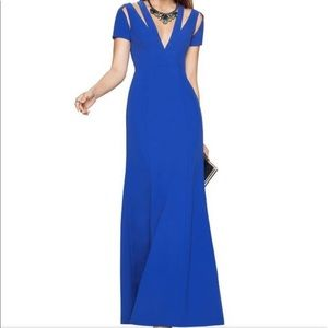 *NWT* BCBGMAXAZRIA Estrella Blue Gown w/ Cutouts